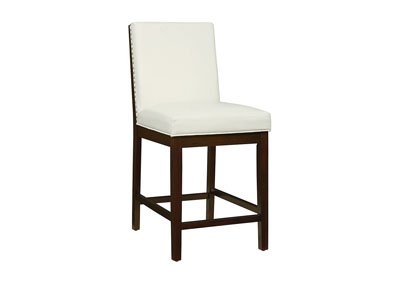 Couture Elegance White Counter Chair (Set of 2)