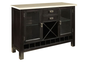 Gateway Dark Chicory Brown Server w/White Marble Top
