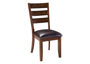 Abaco Warm Dark Tobacco Brown Ladder-Back Side Chair (Set of 2)