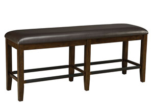 Abaco Warm Dark Tobacco Brown Counter Height Dining Bench