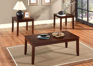 Brantley Rich Brown Cherry Occasional Table Set