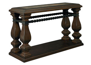San Moreno Aged Whiskey Brown Console Table