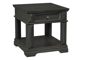Garrison Burnished Gray End Table w/Drawer