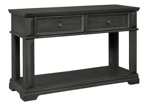 Garrison Burnished Gray 2 Drawer Console Table