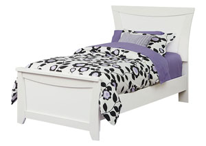 Vogue White Faux Crocodile Full Panel Bed