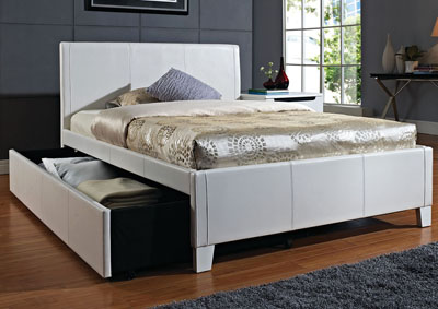 Fantasia White Twin Trundle Bed