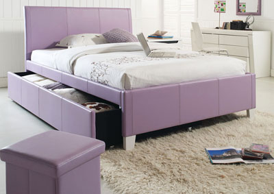 Fantasia Lavender Twin Trundle Bed