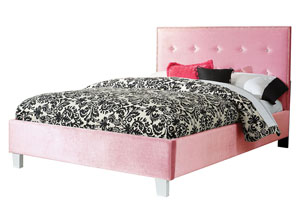 Young Parisian Pink Full Upholstered Bed