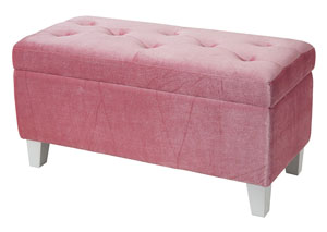 Young Parisian Pink Storage Bench