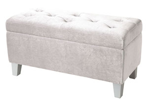Young Parisian White Storage Bench