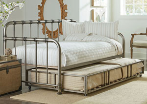 Tristen Aged Pewter Twin Daybed w/Pull-Out Trundle