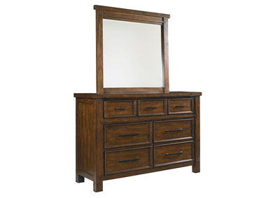 Cameron Youth Brown Dresser and Mirror