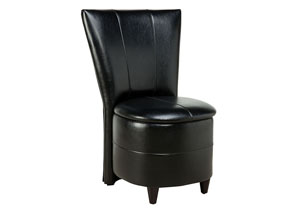 Image for Sit N' Store Black Storage Stool