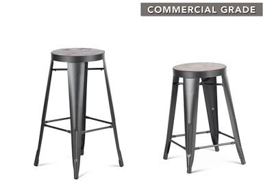 Image for Park Avenueer Grey Counter Stool [2/ctn]