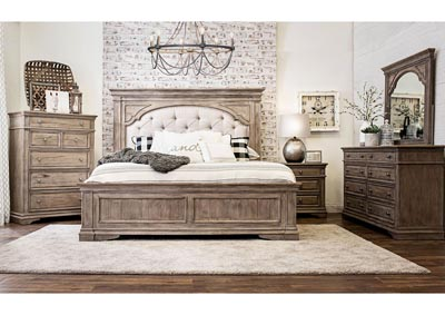 Image for Highland Park Avenue Waxed Driftwood Panel Queen Bed