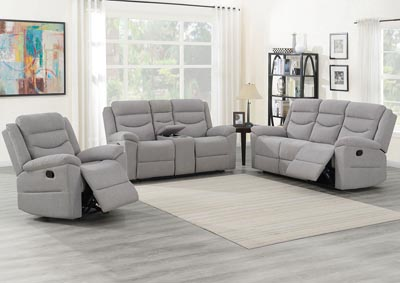 Image for Chenango Light Grey Manual Motion Sofa w/ Drop Down Table