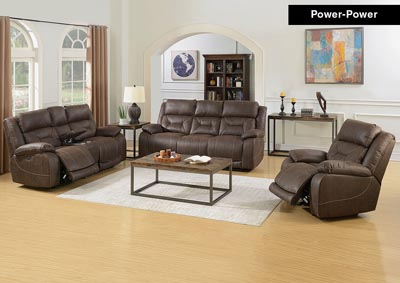 Image for Aria Saddle Brown Power-2 Recliner Armchair & Loveseat