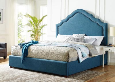 Image for Ensley Navy Upholstered Queen Bed