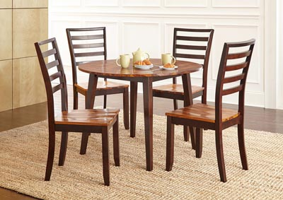 Image for Abaco Brown Round Dining Set W/ 4 Chairs