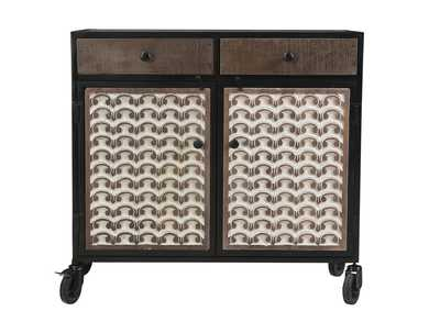 Image for Garrett Brown Accent Cabinet w/Caster