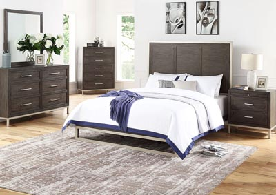 Image for Broomfield Brown Panel Queen Bed