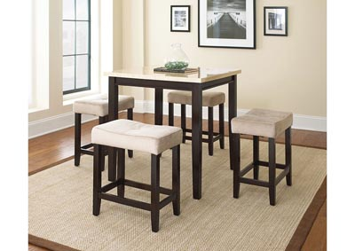 Image for Aberdeen Tan Square Counter Dining Set W/ 4 Stools