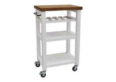 Image for Belden White Kitchen Cart