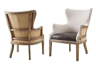 Image for George Two Tone Wingback Accent Chair [2/Ctn]