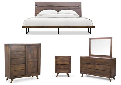 Image for Pasco Brown Panel Queen Bed