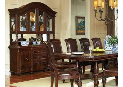 Image for Antoinette Brown Formal Dining Set W/ 2 Arm & 8 Side Chairs, Buffet & Hutch