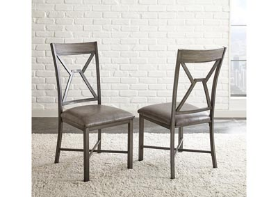 Image for Alamo Grey PU Side Dining Chair [2/Ctn]