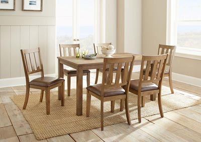 Image for Ander Brown Rectangular Dining Set W/ 6 Chairs