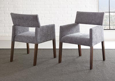 Image for Amalie Grey Side Dining Chair [2/Ctn]
