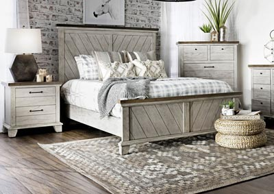 Image for Bear Creek White Panel Queen Bed