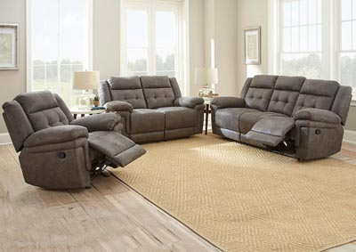 Image for Anastasia Grey Recliner Sofa