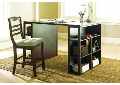 Bradford Black Counter Height Writing Desk W/ Chair