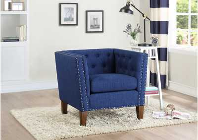 Image for Campbell Blue Accent Chair