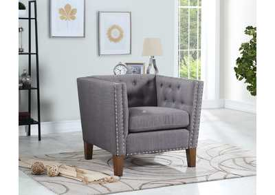 Image for Campbell Grey Accent Chair