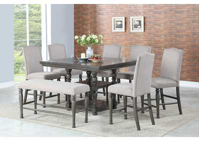 Caswell Grey Counter Dining Table Maverick Wholesale Furniture