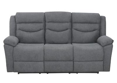 Image for Chenango Dark Grey Manual Motion Sofa w/ Drop Down Table