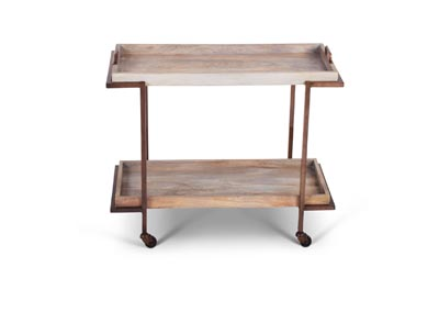 Image for Conway Brown Serving Cart