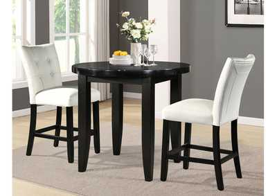Image for Markina Black Round Marble Top Dining Table