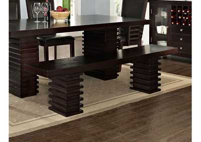 Image for Briana Dark Brown Dining Bench