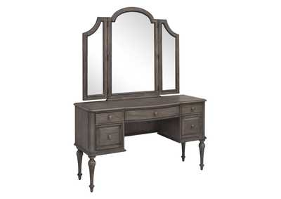 Image for Highland Park Waxed Driftwood Vanity Desk