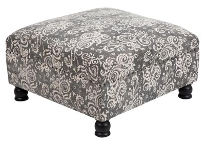 Image for Kanpur Charcoal Ottoman