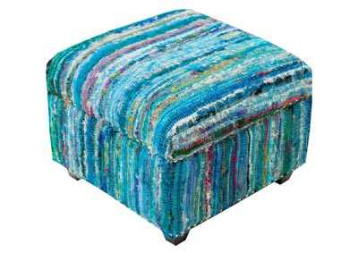 Image for Saturday Night Sky Blue Ottoman