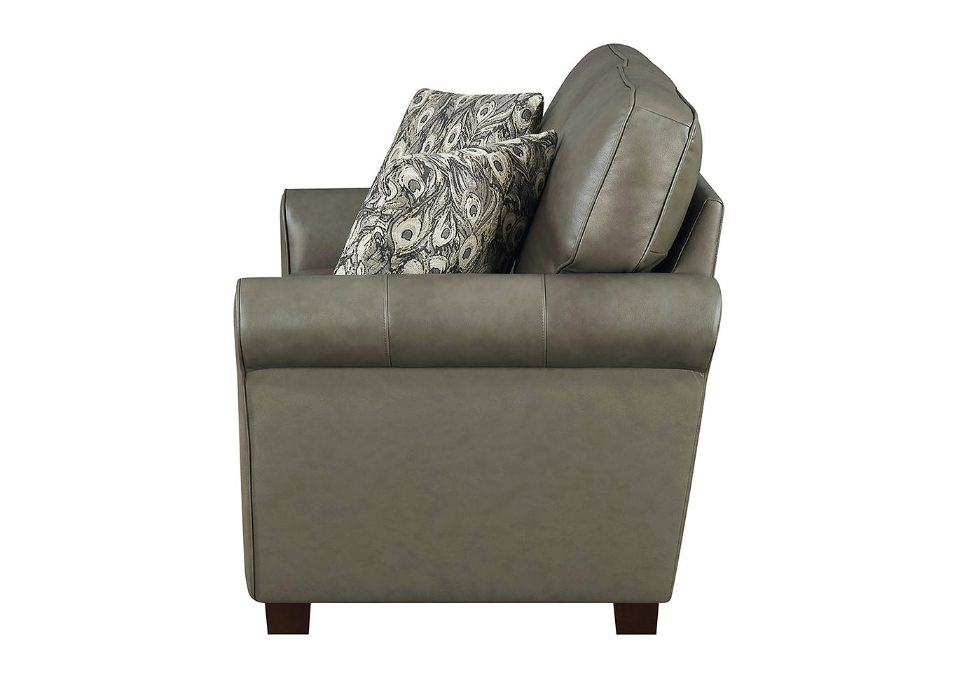 Swell Taba Home Furnishings April Gray Leather Match Stationary Machost Co Dining Chair Design Ideas Machostcouk