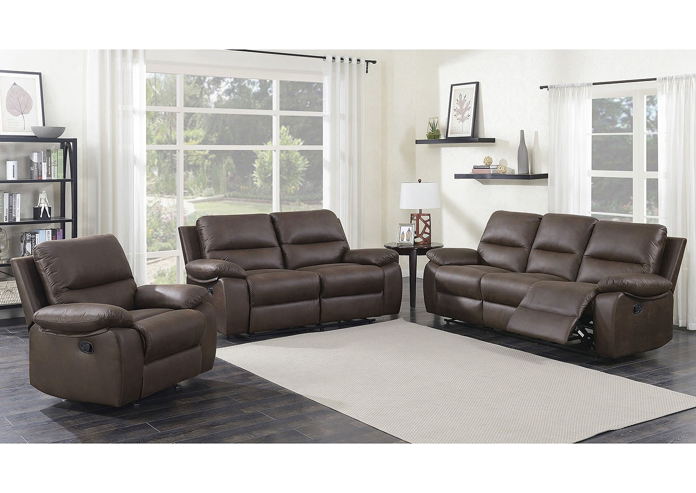 Best Buy Furniture And Mattress Barbara Chocolate Manual Motion 3