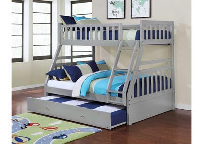 Junior Gray T/F Bunk Bed (Mattress, Trundle SOLD SEPARATELY)