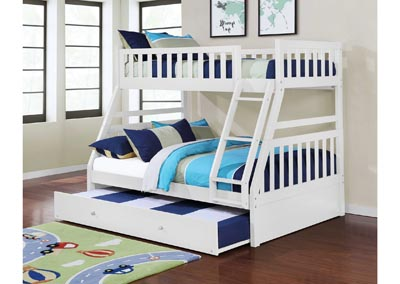 Junior White T/F Bunk Bed (Mattress, Trundle SOLD SEPARATELY)